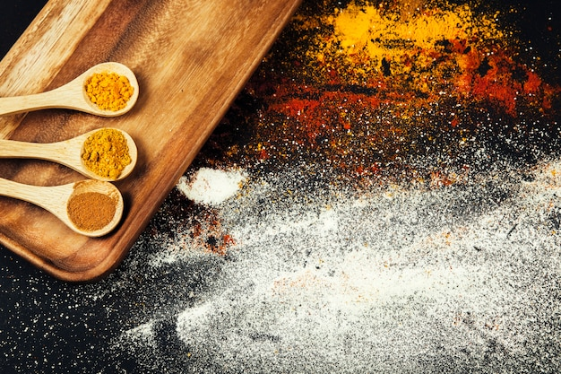 Oriental curry spices Free Photo