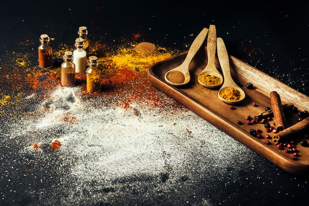 Oriental spices decoration Free Photo
