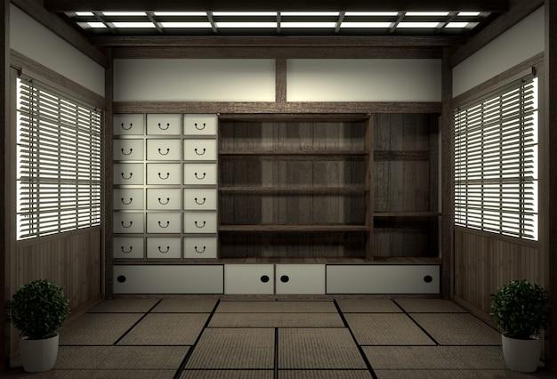 Original room japanese style, showa era , design with the best japanese room designers.3d rendering Premium Photo