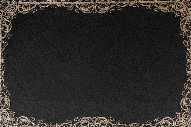 Ornate border design against black background for card Free Photo
