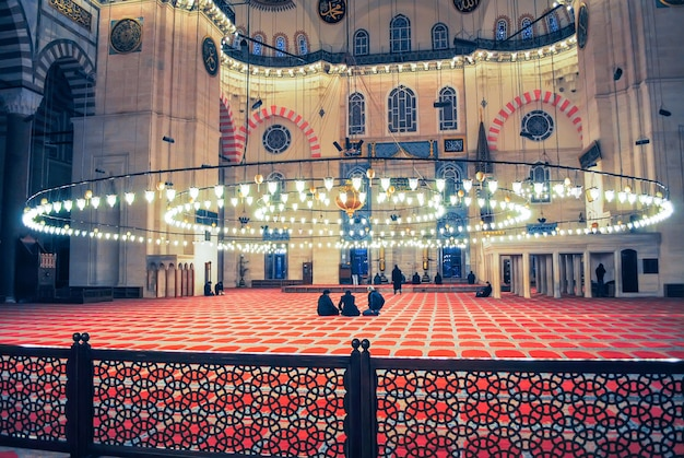 Orthodox pilgrims visited the aya sophia mosque in christmas. Premium Photo
