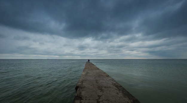 Otrada beach in odessa, ukraine Premium Photo