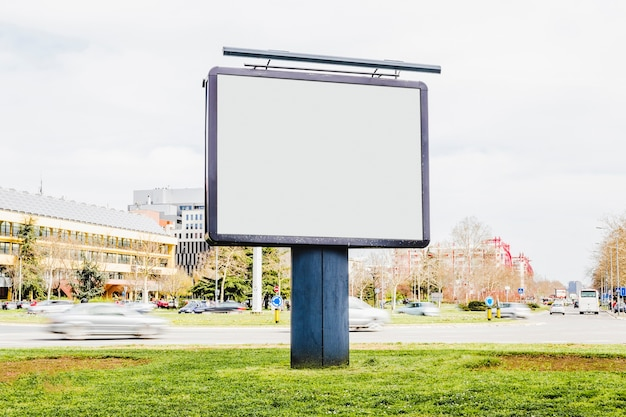 Outdoor advertising mockup on the roadside Free Photo