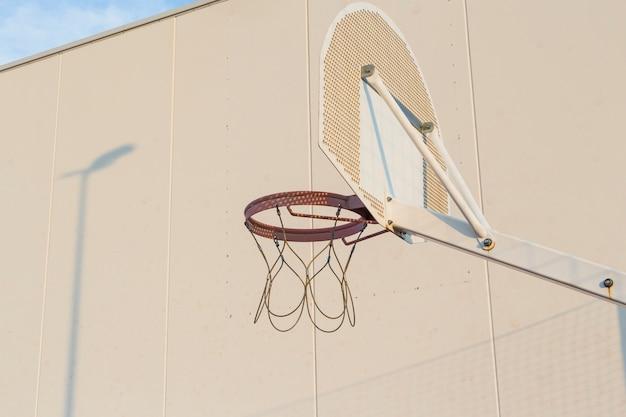 An outdoor basketball hoop Free Photo