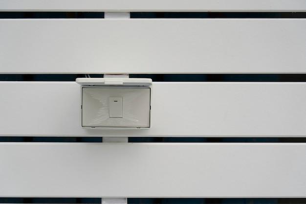 Outdoor electric switch. Premium Photo