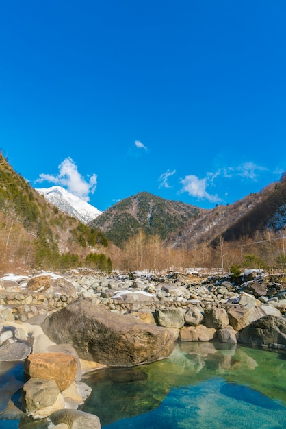 Outdoor onsen ,japan Free Photo