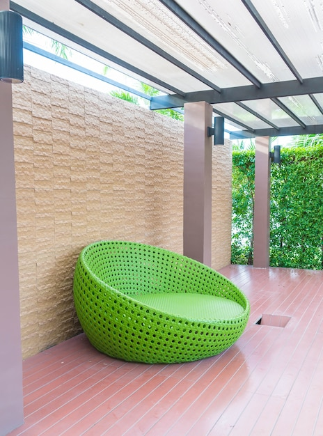 Outdoor With Circle Chair Free Photo