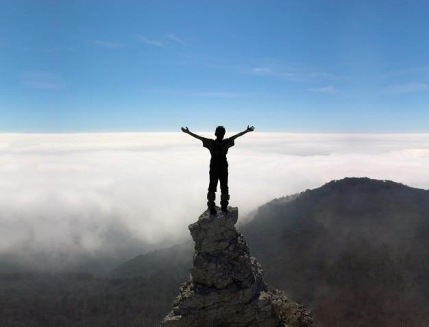 outdoors climbing adventure blue climb Free Photo