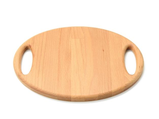 Овальный деревянный поднос Premium Фотографии