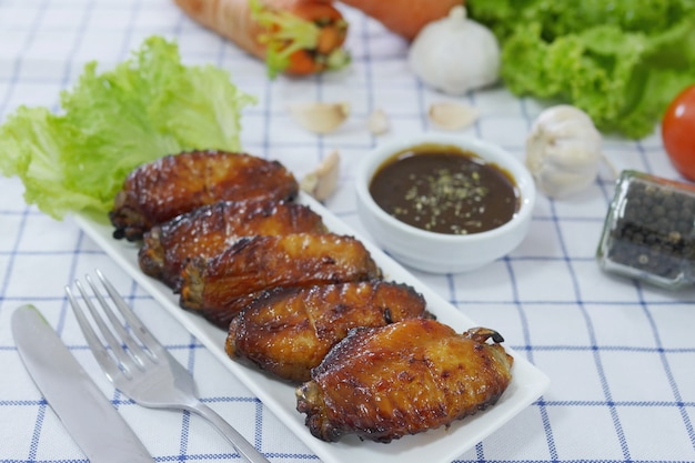 Oven roasted chicken wings Free Photo