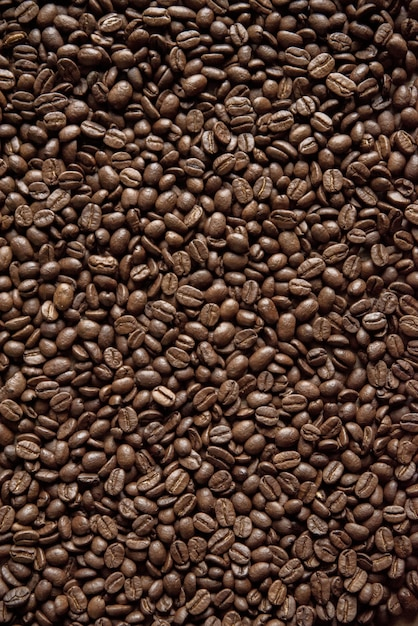 背景やブログに最適なオーバーヘッド垂直ショットコーヒー豆 無料写真