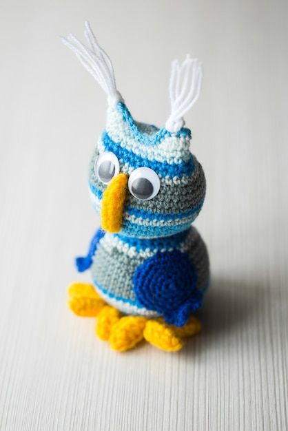 Owl doll knitted Premium Photo
