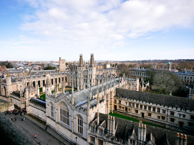 Oxford city from the top view Premium Photo