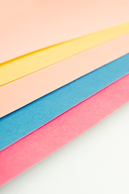 Pack of multicolored cardboard sheets Free Photo
