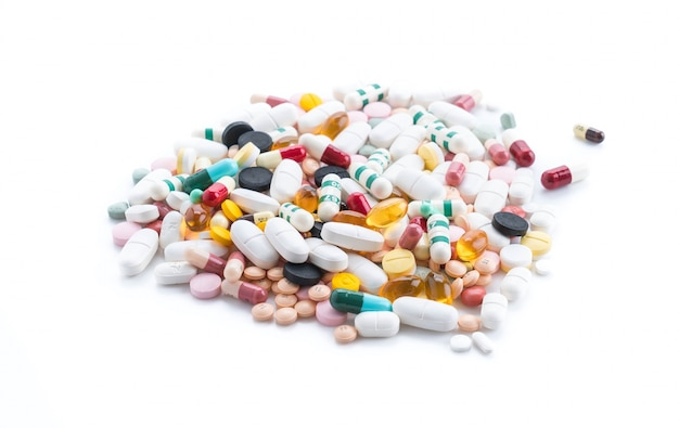 Packings of pills and capsules of medicines Free Photo
