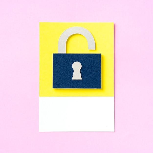 열쇠 구멍 아이콘이있는 자물쇠 무료 사진