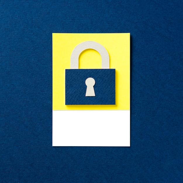Padlock with a keyhole icon Free Photo