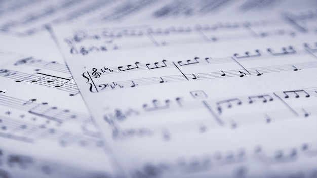 Pages of sheet music Premium Photo