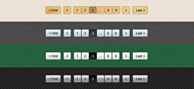 pagination psd buttons