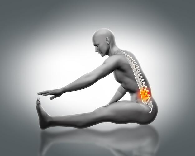 Pain in the lumbar Free Photo