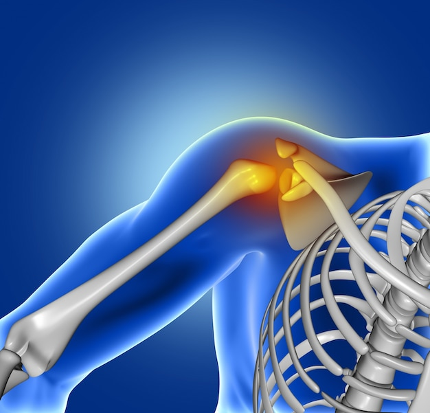 Pain of shoulder joint Free Photo