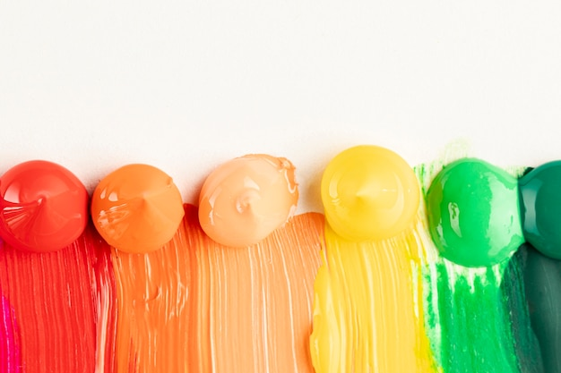 Paint trails on white background Free Photo