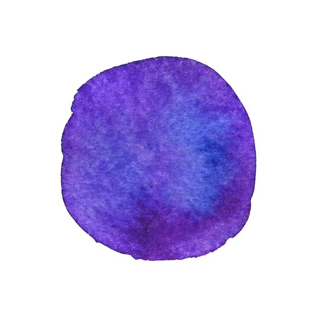 Painted bright circle. watercolor painting texture. Premium Photo