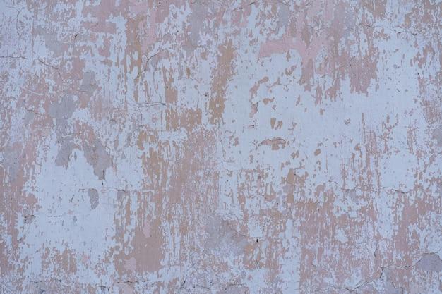 Окрашены в белый старый треснувший металл ржавый фон. Бесплатные Фотографии