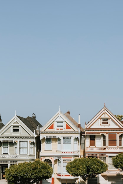 The painted ladies of san francisco, usa Free Photo