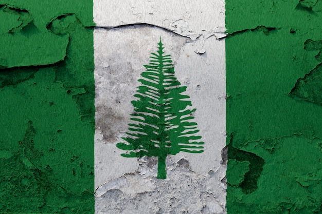 Painted national flag of norfolk island on a concrete wall Premium Photo