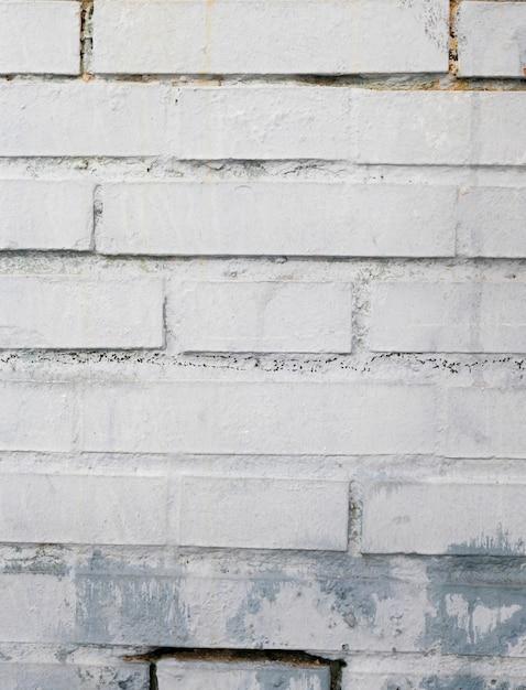 Painted rough brick wall Free Photo