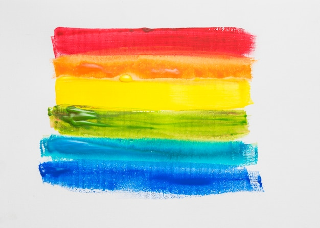 Painted stripes in lgbt colors Free Photo