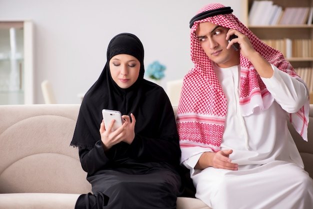 Pair of arab man and woman Premium Photo