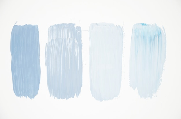 Pale blue colors on white canvas Free Photo