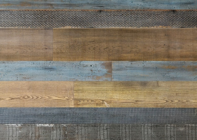Pale faded brown and cool blue reclaimed wood surface Free Photo
