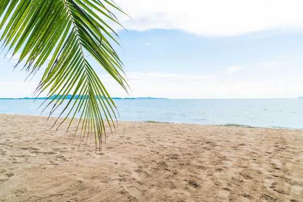Palm and tropical beach at Pattaya in Thailand Free Photo