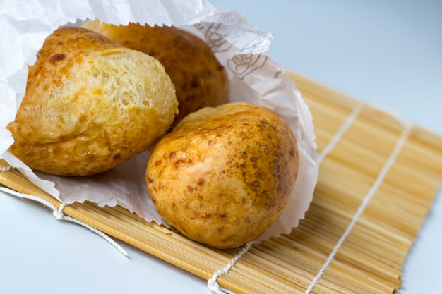 Pan de yuca or pao de queijo: traditional tapioca and cheese bread from south america Premium Photo