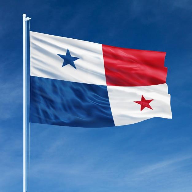 Panama flag flying Premium Photo