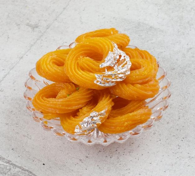 Paneer jalebi indian sweet food Premium Photo