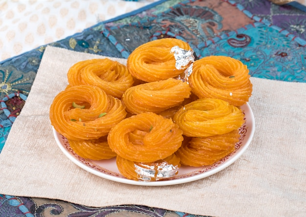 Paneer jalebi Premium Photo