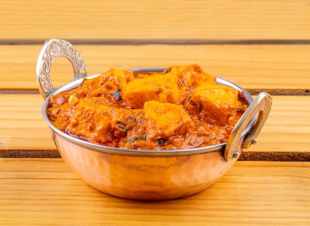 Индийская вкусная пряная вегетарианская кухня paneer toofani Premium Фотографии