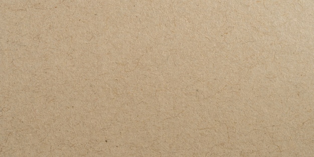 Panorama brown paper surface texture and background with copy space. Premium Photo