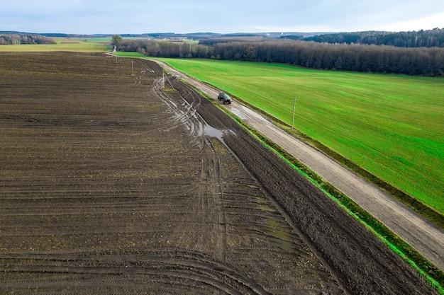 Panorama of a farmer's field Premium Photo