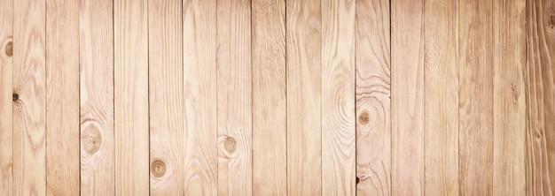 Panorama of light wooden texture. desktop background Premium Photo