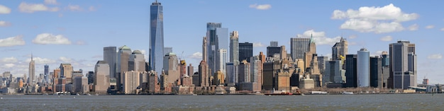 Panorama new york cityscape Premium Photo