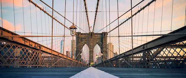 Vista panoramica sul ponte di brooklyn, new york, usa. Foto Gratuite