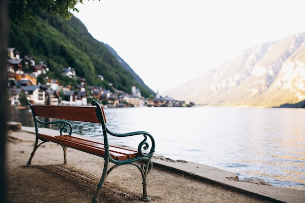Panoramic view of lake and mountains Free Photo