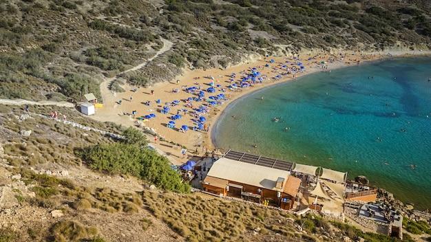 Panoramic view of the maltese beach Premium Photo