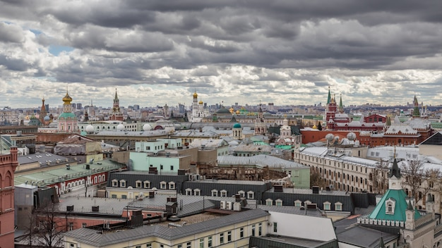 Panoramic view of moscow Premium Photo