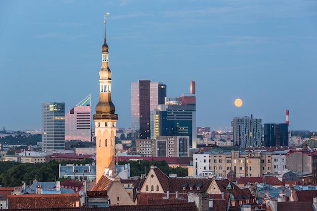 Panoramic view of tallinn Premium Photo